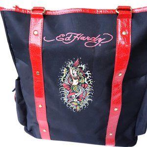 NWT Ed Hardy Mermaid Tote Bag
